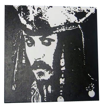Pirates of the Carribbean Pop Art Painting
